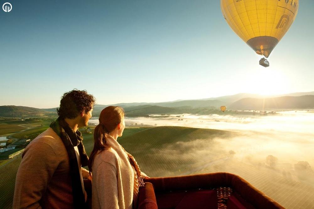 Romantikus Hőlégballonos Sétarepülés Pároknak - Szerelem Csomag - 1.