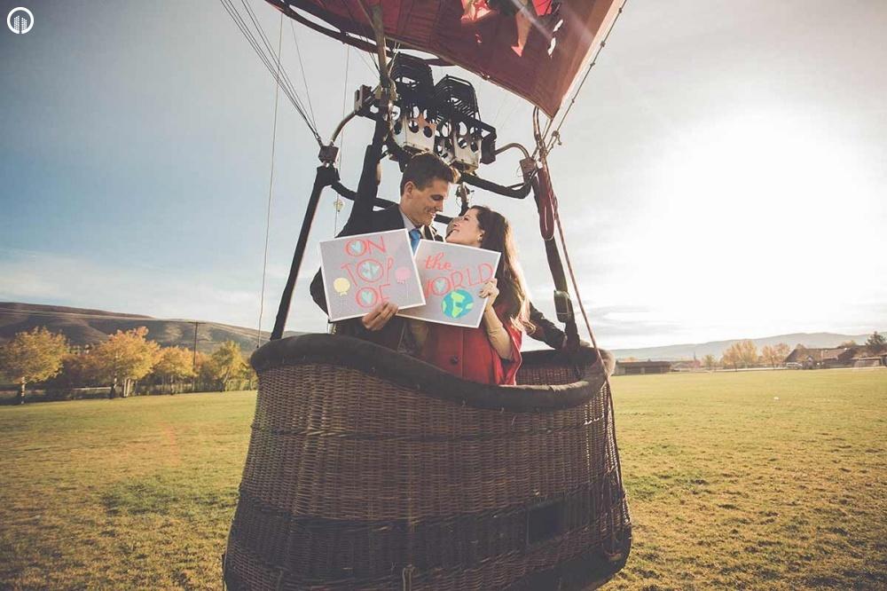 Romantikus Hőlégballonos Sétarepülés Pároknak - Szerelem Csomag - 2.