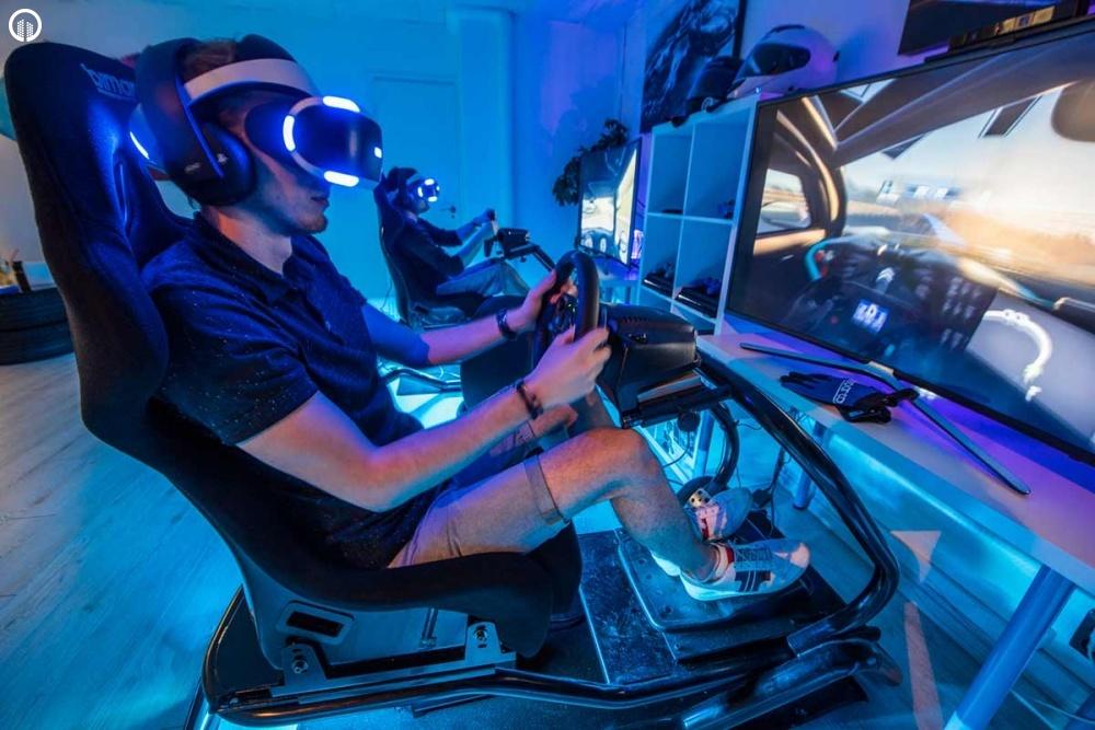 Versenyautó Szimulátor Vezetés VR Szemüveggel   A Virtuális Valóság Élménye - 5.